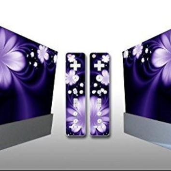 Dream Flower Vinyl Decal Skin for Nintendo WII Console & Controllers