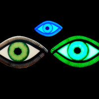 EyeGloArts Eyeballs Glow in the dark Green Eye Pendant #EY302014