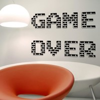 Vinyl Wall Decal Sticker Game Over #OS_AA466