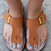 Walk With Me Sandal - Camel