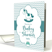Leap Year Baby Shower Invitation with Rocking Horse card