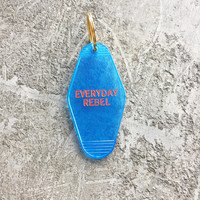 Everyday Rebel Key Tag in Translucent Blue