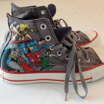 Size 4 Mens Size 6 Womans Dc Comics Heroes Vs Villans High Top Converse Chuck Taylors