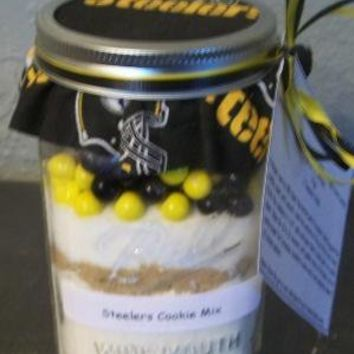 Steelers Cookie Mix in a Jar by MamasLoveInAJar on Etsy