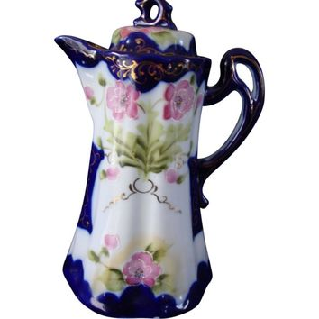 Hand Painted Porcelain Nippon Chocolate Pot