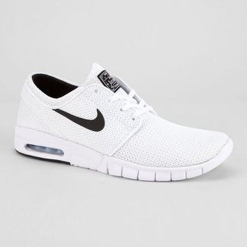 NIKE SB Stefan Janoski Max White & Black Shoes