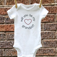 Grandpa's Pregnancy Announcement Baby Announcement Pregnancy Announcement to Grandparents Baby Reveal Newborn Baby Clothes Pregnancy Reveal