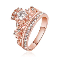Rose Gold Plated The Queen's Crown Ring
