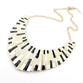 Big Colorful Torques Enamel Statement Choker Pendant Necklace Link Chain Lady Necklaces NW