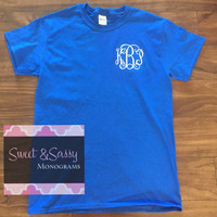 Custom Embroidered Monogrammed T-shirt, Monogram Shirt