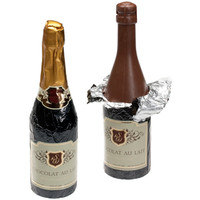 Foiled Chocolate Champagne Bottle Gift Box