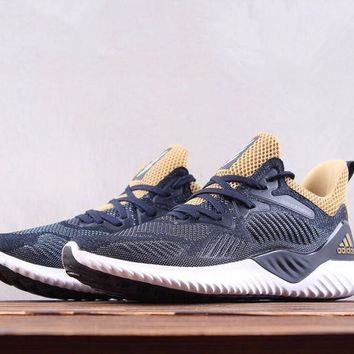 HCXX A117 Adidas Alpha Bounce Beond Shark crepe outsole running shoes Dark Blue