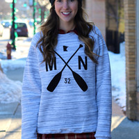 MN Paddle Marbled Sweatshirt