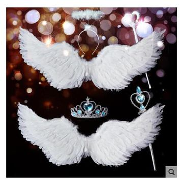 Wing Halloween Xmas Decorate Wedding Bride Flower Girl Angellwing White Feather Adult chilren Victoria Secret Kids coustume sexy