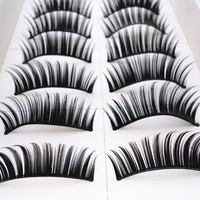 10 Pair Thick Fake False Makeup Eyelashes Eye Lash