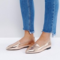 ASOS LEES Wide Fit Pointed Loafers at asos.com