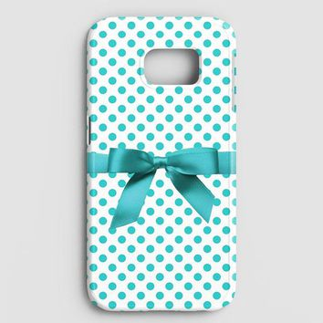 Blue Tiffany Polkadot Ribbon Samsung Galaxy Note 8 Case