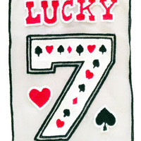 XXL Extra Large 27cm Chenille Lucky 7 on Screen Poker Patch Badge