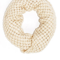 Neither Sphere Nor There Ivory Infinity Scarf