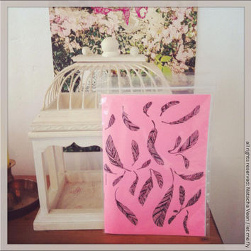 Pink Feathers Notebook