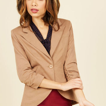 Fine and Sandy Blazer in Khaki in S