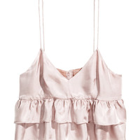 Short Ruffled Top - from H&M