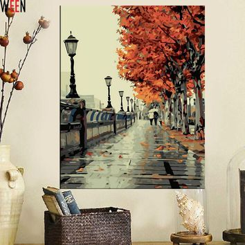 Art Oil Painting DIY Coloring No Frame