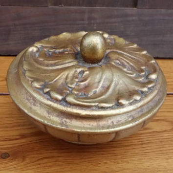 Vintage Gold Ornate Freeman and McFarlin Covered Candy Dish Marked Anthony 575 USA California Pottery