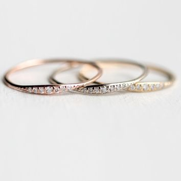 3 Color Women Fashion Simple Diamond Ring Wedding Memorial Jewelry Ring Thanksgiving Ring Gift