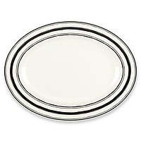 "Around the Table Stripe 16"" Platter by Lenox"