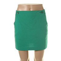 Theory Womens Sona Linen Solid Mini Skirt