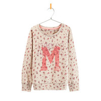 FLOWERS AND SPARKLES SWEATSHIRT - Sweatshirts - Girl - Kids - ZARA United States