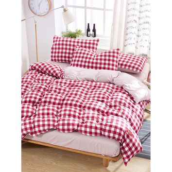 Allover Plaid Print Sheet Set