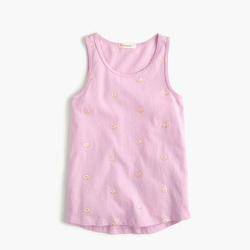 Girls' glitter donut tank top : Girl tanks | J.Crew