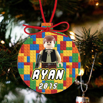 Personalized Christmas LEGO Ornament - Lego Movie Character Luke Skywalker