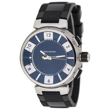 Louis Vuitton Stainless Steel Tambour Digital Men's Watch