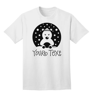 Personalized Matching Polar Bear Family Design - Your Text Adult T-Shirt