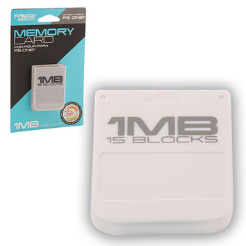 1MB (15 Blocks) Memory Card for Sony Playstation (New)