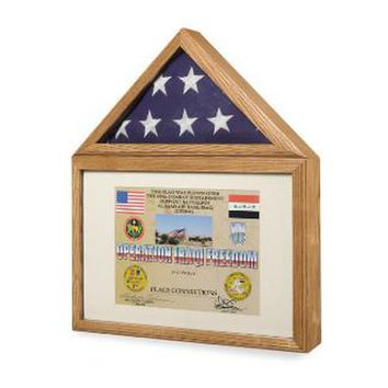Flag Display Case - Shadow Box,Medals Case Militery Hand Made By Veterans