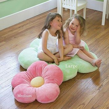Girls Flower Floor Pillow Seating Cushion. Softer & More Plush Than Area Rug or Foam Mat. 16""