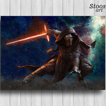 Kylo Ren poster star wars print the force awakens