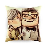 Romantic Up Movie Carl and Ellie Pillow Case (20 x 20 inch)