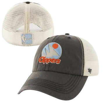 47 Brand San Diego Clippers Hardwood Classic Caprock Canyon Flex Hat - Charcoal/White