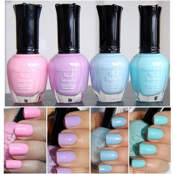 4 New Kleancolor PASTEL COLLECTION Nail Polish Lacquer Colors