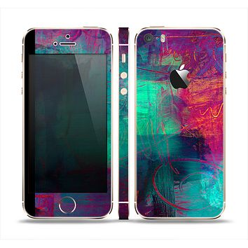 The Abstract Oil Painting V3 Skin Set for the Apple iPhone 5s