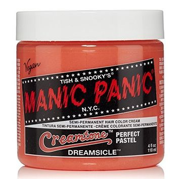 "Manic Panic Creamtone Semi-Permanent Hair Color Cream - Dreamsicle 4oz ""Pack of 2"""