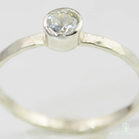 Small  CZ Diamond Ring