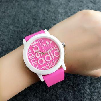 Trendy Women's Girl's Adidas Print Sport Color Blocking Wrist Watch