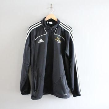 Black Adidas Jacket logo 3 Stripes Adidas Soccer Coach Jacket Training Jacket Adidas T