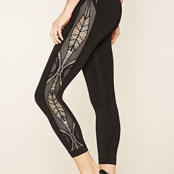 Active Lasercut Leggings | Forever 21 - 2000171005